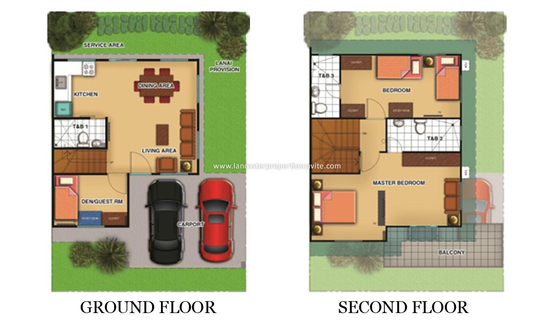 Chessa House Model Lancaster Properties For Sale In Cavite Floorplan Lancaster New City Properties For Sale In Cavite